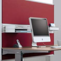Steelcase, Akustik Tischelement Partito Screen und Rail