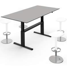 sitz stehtische h henverstellbare schreibtische elektrisch. Black Bedroom Furniture Sets. Home Design Ideas