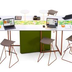 officebase, Bigla by Orangebox, Bigla fielding worktables by Orangebox