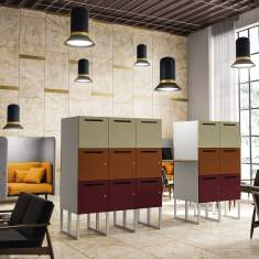 officebase, ergodata, wood'lockers