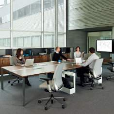 Steelcase, FrameOne Bench mit media:scape